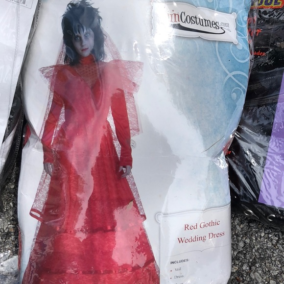 Other | Red Gothic Wedding Dress Costume | Poshmark